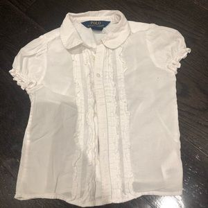 Ralph Lauren white blouse uniform shirt Sz 3t